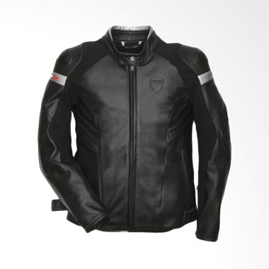 Ducati Dark Armour Leather Man Jaket Motor - Black