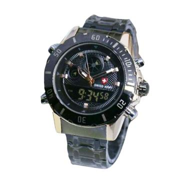Swiss Army ATJ 5410 Jam Tangan Pria - Black Gold