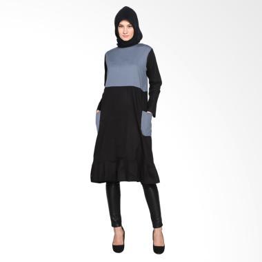 Chick Shop Cute CO-60-03-HA Dress Moslem - Grey Black
