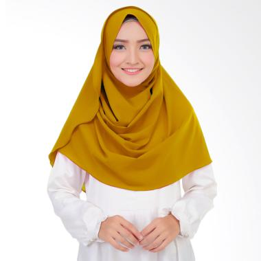 Cotton Bee Syakilla Hijab Instant / Pashmina Instan - Mustard