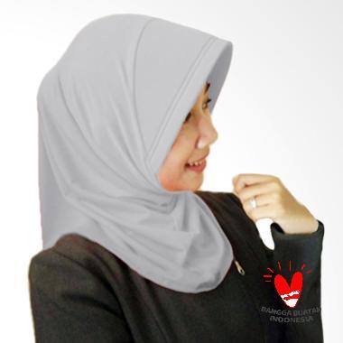 Milyarda Hijab Instant Marshanda silver