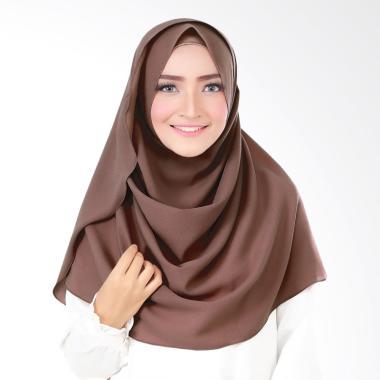 Cotton Bee Syakilla Hijab Instant - Dark Choco