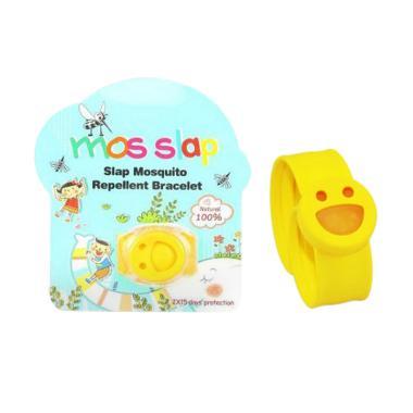 Mos Slap Mosquito Repellent Bracelet - Yellow + Free 2 Refill