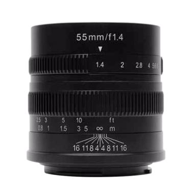 7Artisans 55mm F1.4 for Sony E-Mount Lensa Kamera - Black