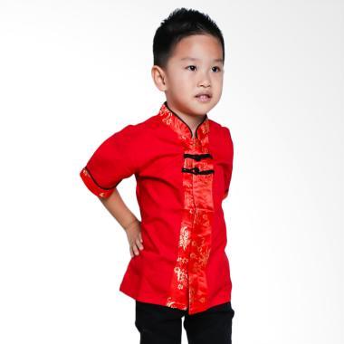 Versail Kids SM8096 Kemeja Cheongsa ... asan Anak Laki-laki - Red