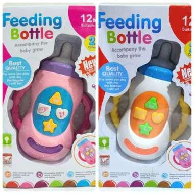 harga Mainan Botol Susu Bayi Feeding Bottle Baby Musical Lamp Toys Multicolor Blibli.com