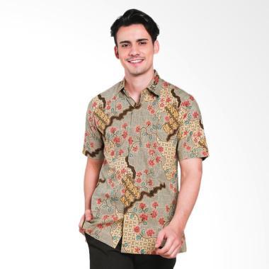 Batik Heritage Premium Bunga Parang ... emeja Batik Pria - Kuning