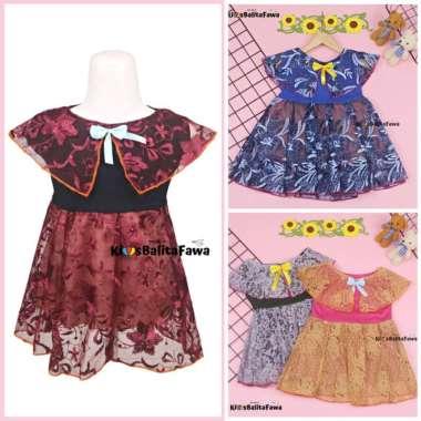 harga Jual Dress Diana uk 3-4 Tahun  Dres Cape Brukat Kensi Anak Perempuan Impor Murah Blibli.com