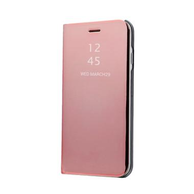 OEM Clear View Standing Cover Casing for iPhone 8 Plus - Rose Gold