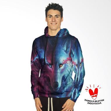 Fika Tema Wolf 3D Full Print Sublim ... Jaket Hoodie Sweater Pria