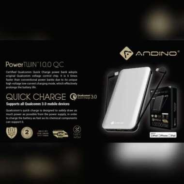 ANDINO POWERTWIN 10 QCPD POWER DELIVERY MFI POWERBANK 10000MAH M.GREEN