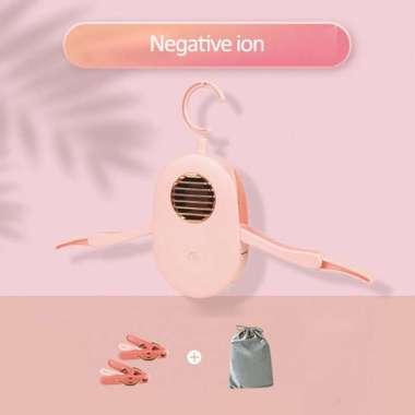 harga Gantungan Baju Pengering Pakaian Elektrik Portable 220V - Pink Blibli.com