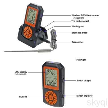 harga Termometer Elektronik Digital Wireless Anti Air Dengan Backlight Blibli.com