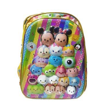 hw collecti Tsum Tsum Tas Sekolah A ... u dan Musik - Kuning Pink
