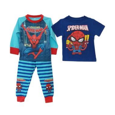GBS MK 3in1 Spiderman Set Piyama Anak Laki-Laki