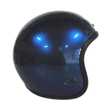 Zeus ZS-385 Retro Helm Half Face - Dark Blue
