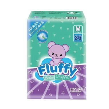 Fluffy Diapers Popok Bayi [Size M/ 36 pcs]