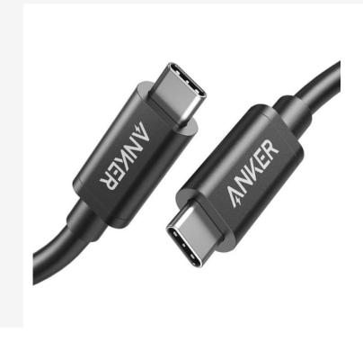Anker A8486 PowerLine USB-C to USB-C ThunderBolt Kabel Charger - Black [50 cm]