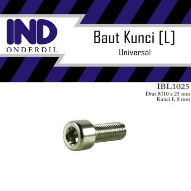 harga IND Onderdil Baut-Baud-Bolt L-L8 M10x25-10x25-M 10 x 25 Kunci-K 8 P-Pitch 1.25 Blibli.com