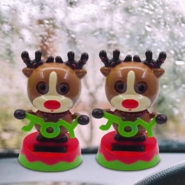 Animal Solar Powered Toys Flip Flap Swing Plastic Interior Car Accessories Decoration