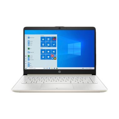 harga Hewlett Packard HP 14s-dk1006AU Laptop [AMD Ryzen 3 3250U/ 8 GB/ 1 TB HDD Storage/ 256 GB SSD Storage/ AMD Radeon Graphics/ W 10 + OHS] Pale Gold Blibli.com