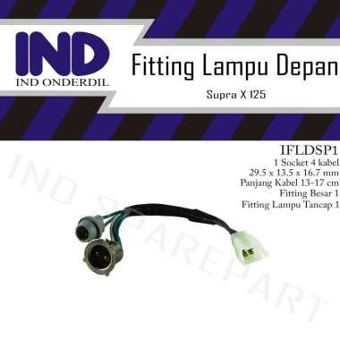 harga IND Onderdil Fitting Soket Lampu Depan Motor for Supra X 125/ Supra X 125 Double Discbrake/ Supra X 125 R-PGMFI ABU Blibli.com