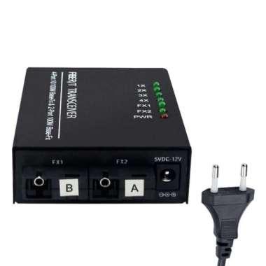 harga Ethernet Converter Switch 4* RJ45 2* Fiber SC Single Mode Ultra Silver Blibli.com