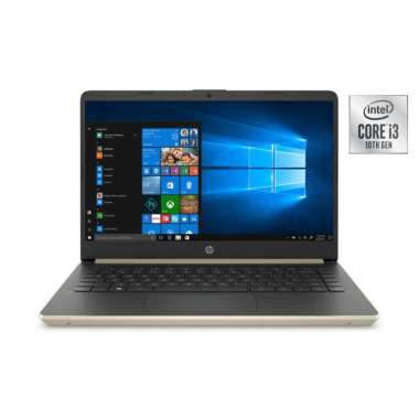 harga HP 14-DQ1038WM - I3-1005G1- 4GB -256SSD -14'' -WIN -GOLD Blibli.com