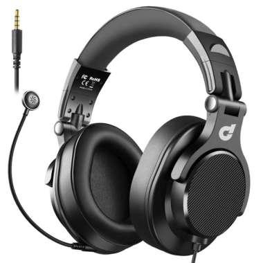 harga DbE Acoustics DJ80 Foldable DJ Headphone with Detachable Microphone black Blibli.com