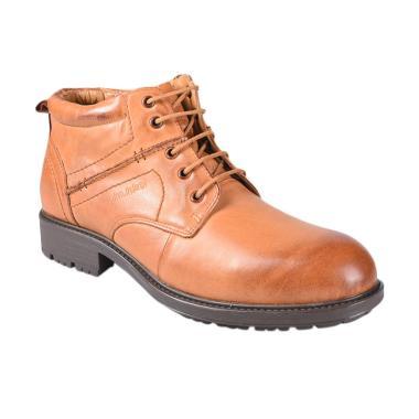 Jim Joker 2BA Casual Flem Sepatu Boot Pria - Camel
