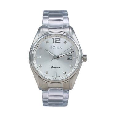 Bonia BN10186-1315 Stainless Steel Jam Tangan Pria - Silver