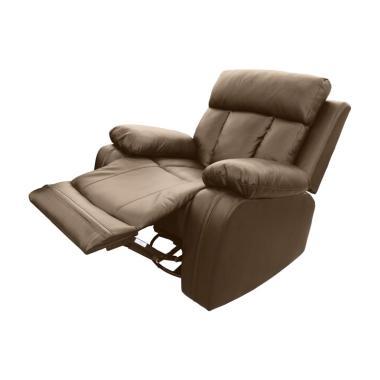 JYSK 1 Seater Zeus Sofa Recliner - Brown [106 x 99 x 100 cm]