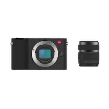 Xiaomi Yi M1 Kit 12-40mm F3.5-5.6 Kamera Mirorrless - Hitam (International English Version)