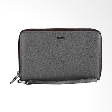 Bonia Long Zip Purse Dompet Wanita - Medium Grey