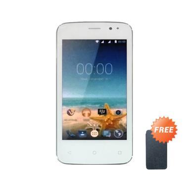 Advan Vandroid S4T - White + Free Flipcover Biru Tua