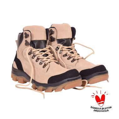 Azcost Hiker Safety Sepatu Boots Pria - Cream