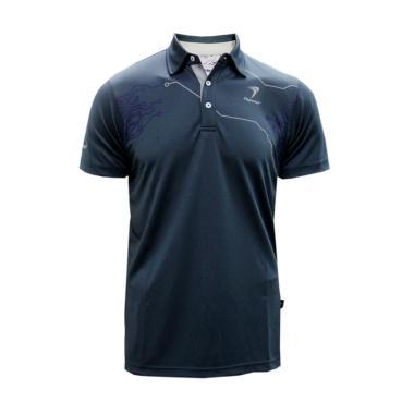 Flypower Polo Garis Kaos Badminton - Grey
