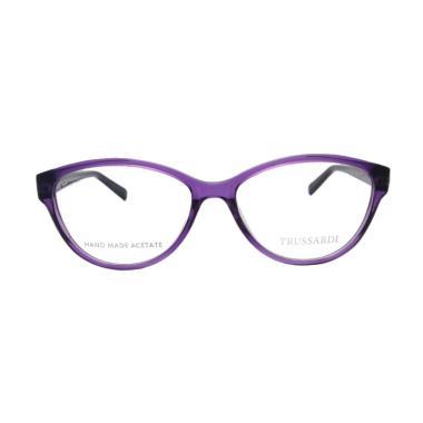 Trussardi Cat Eye Frame Kacamata - Purple  12519-54  674af5577c