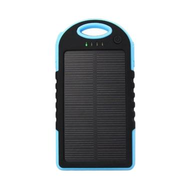 Wanky Solar Cell Slim Body Powerbank - Biru [5000 mAh]