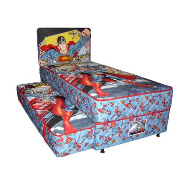 FCENTER Big Dream 2in1 Sorong Superman Set Springbed PULAU JAWA*)