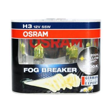 OSRAM H3 FBR 2600K Fog Breaker Halogen Bohlam Lampu [55 W/12 V]