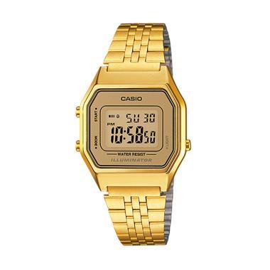 CASIO Digital Vintage LA680WGA-9 Jam Tangan Wanita - Gold