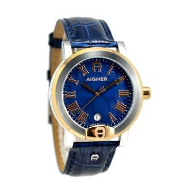 Aigner A103106 Treviglio Jam Tangan Pria - Biru Ring Gold