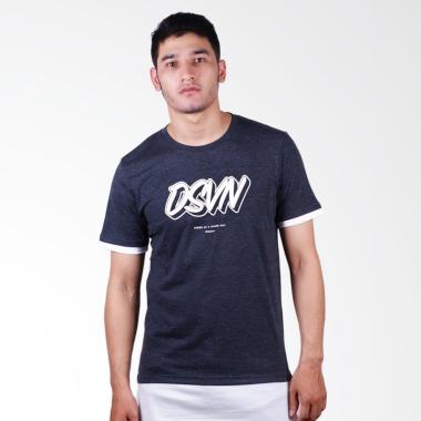 DSVN Leander Cotton Combed Overshirt T-Shirt Pria - Dark Grey