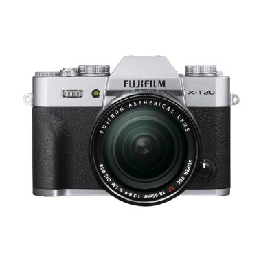 Fujifilm X-T20 18-55mm Kamera Mirrorless - Silver + INstax Share SP-2