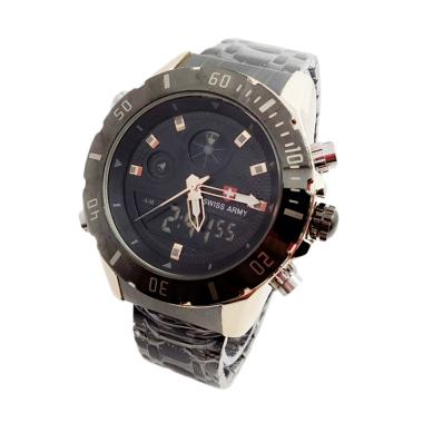 Swiss Army SA-5185 Jam Tangan Pria - Black Gold