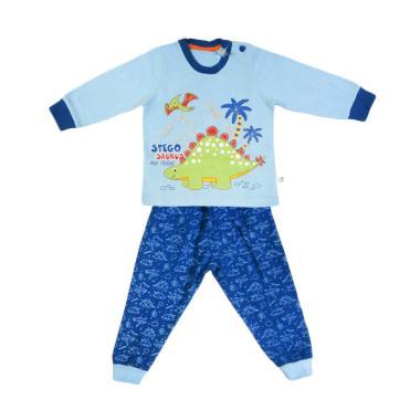 Tokusen Stegosaurus Baju Tidur Anak - Blue