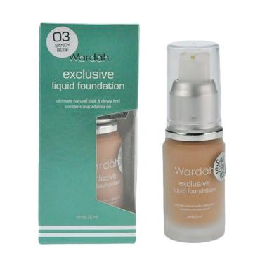 Wardah Exlusive 03 Liquid Foundation - Sandy Beige