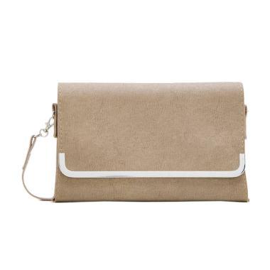Henmate Selena Silver PILZR0801 Clutch Bag - Brown