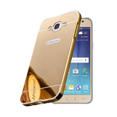 OEM Bumper Mirror Sliding Casing for Samsung Galaxy J5 2016 - Gold